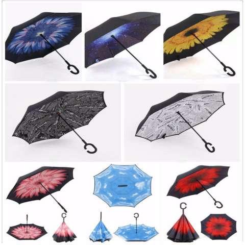 Jual Payung Lipat Terbalik Gagang C Reverse Innovative Fancy Umbrella Random Harga Rp 79.000