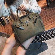 Perempuan Musim Dingin Produk Baru Tas Model Hermes Tas Tangan (Hijau)