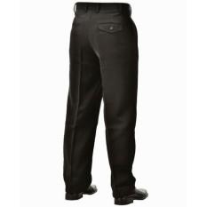 Peytha - Celana Kerja Kantor Pria Bahan Kain - Panjang - Teflon/Twist - Hitam - Standart - Reguler Fit - Claster