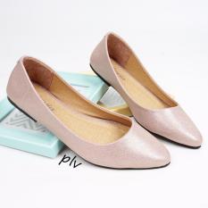 Pluvia Pointed Toe Flat Shoes Wanita DB169 - Salem