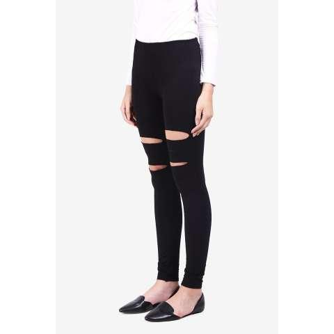 Pocabela  Women Clothing Pants & Leggings Leggings  Wanita Pakaian Celana & Legging Legging Black Hitam Diskon discount murah bazaar baju celana fashion brand branded 1