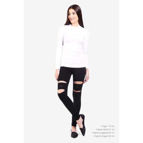 Pocabela  Women Clothing Pants & Leggings Leggings  Wanita Pakaian Celana & Legging Legging Black Hitam Diskon discount murah bazaar baju celana fashion brand branded 3