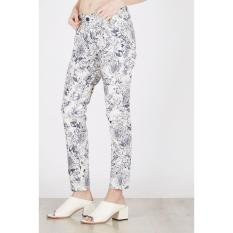 Point One Original - ALESSA Second Skin Skiny Pants With Floral Motif 286161 012 04