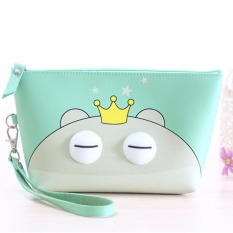 Pouch Tas Dompet Lucu Tempat Kosmetik Make Up Stationary Purse - PIGGY CROWN