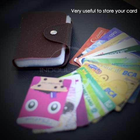 PREMIUM Dompet Kartu nama 26 Slot /Dompet Kartu ATM/credit card OR 92-