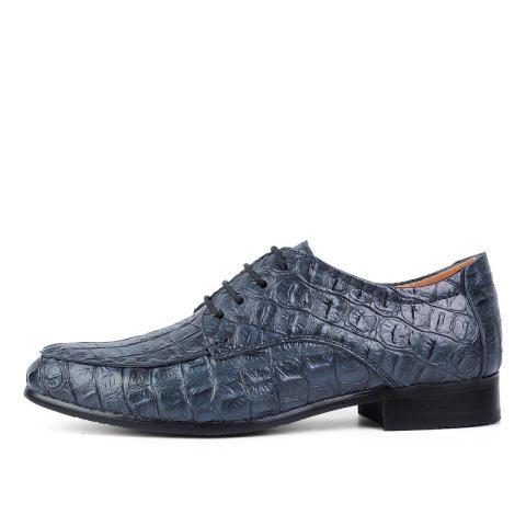 Pria Kulit Asli Sepatu Formal Sepatu Gaun Buaya Pola Kantor Bisnis Sepatu  Sepatu Casual Pria Kulit 5adfd87200