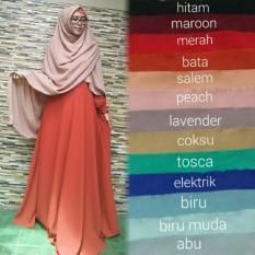 Adzra Diskon!!! Sale!!! Promo Gamis Murah/Gamis wanita/Busana muslim/Gamis syar'i Bubblepop Crepe Polos