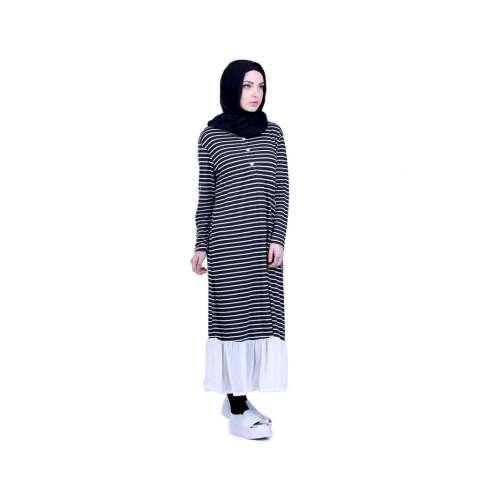 Promo Murah Dress Wanita / Dress Female Long Stripe - H 3016