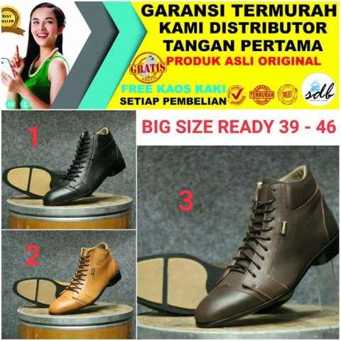 PROMO TERMURAH DAN TERBARU Sepatu Pria Pantofel Tinggi Kulit Asli Tersedia  Ukuran Besar Sampai 46 3f920c7282