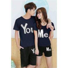 Pusat Baju Couple Online - Kaos Kapel Murah - Pakaian Pasangan (Kembaran / Capel / Copel / Coupel / Sama ) You Me Navy