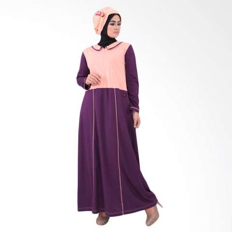 Qirani Melati 181 Dress Muslim - Peach