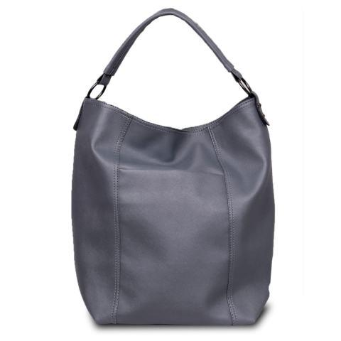 Quincy Label Tote Bag Dorise Shoulder Bag - Grey