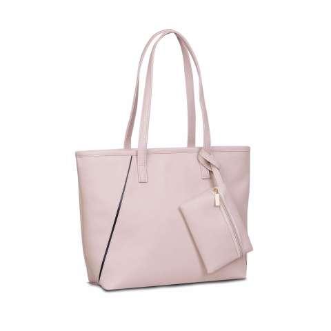 QuincyLabel Tas Wanita Women Fashion HollyTote Leather Handbags Shoulder Bags - Cream