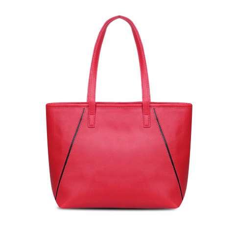 QuincyLabel Tas Wanita Women Fashion HollyTote Leather Handbags Shoulder Bags - Red
