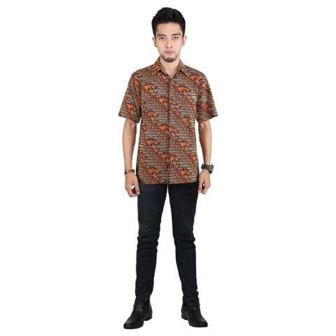 Raindoz RYK 002 baju muslim sarimbit pria - bahan cotton - bagus dan menarik (Brown)