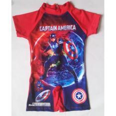 RNKD22 - Baju Renang Anak Laki Captain America