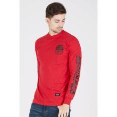 Rown Division Original - Men Badge T-Shirt Red