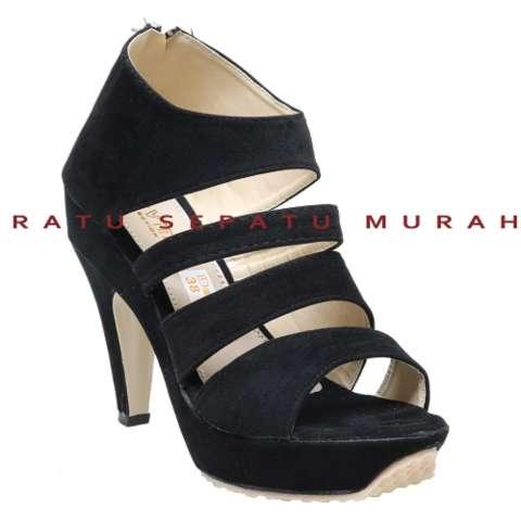 Home; RSM Sepatu Heels Wanita Pesta S-400B- Black