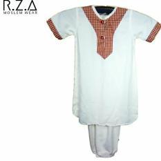 RZA Moslem Wear Gamis Anak Baju Jubah Koko Bayi Dan Balita Model TURKI Polos Kerah Cina  Umur 2 tahun / Baju Lebaran Bayi Daily