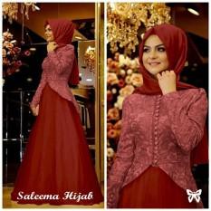 Saleema Maroon - Hijab / Setelan Muslim / Gamis / Gamis Murah / Gamis wanita / Maxi dress