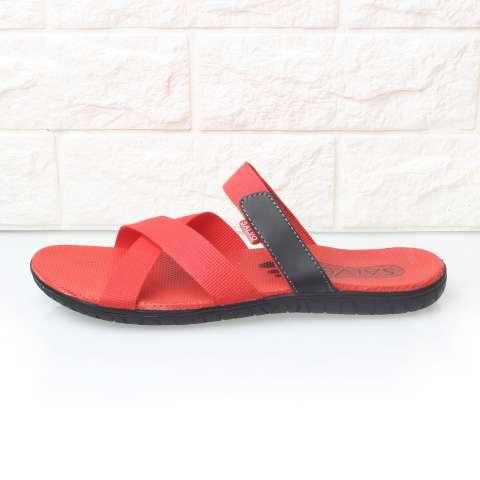... Salvo sandal casual pria S03 merah hitam biru dan abu abu