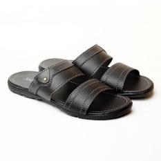 Salvo Sandal L01 Kulit Sintetis-Hitam
