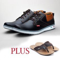 Salvo sepatu kets sneakers dan kasual pria / sepatu kasual kanvas / sepatu sneaker pria / sepatu pria / sepatu sneaker murah /sepatu pria casual /sepatu pria kasual / sepatu pria kulit / sepatu pria murah RK01 hitam free sandal pria ZR coklat