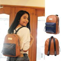 Salvora tas wanita / tas ransel wanita / tas ransel cewek / tas ransel wanita mini / tas ransel kulit/ tas wanita murah SV18 Coklat