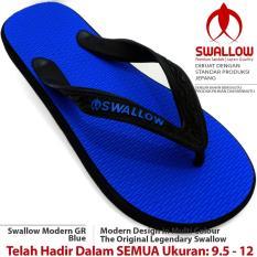 Sandal Jepit Swallow Modern 108 GR [Blue]. Ukuran 9.5 - 12. Bebas Pilih Nomor JUMBO Tersedia