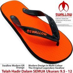 Sandal Jepit Swallow Modern 108 GR [Orange]. Ukuran 9.5 - 12. Bebas Pilih Nomor SIZE JUMBO Tersedia