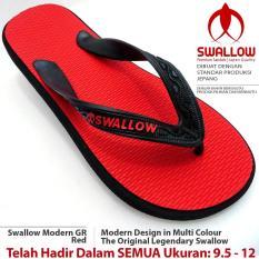 Sandal Jepit Swallow Modern 108 GR [Red]. Ukuran 9.5 - 12. Bebas Pilih Nomor SIZE JUMBO Tersedia