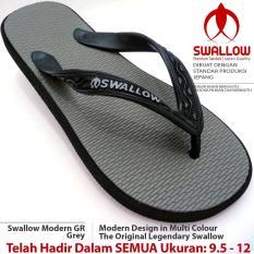 Sandal Jepit Swallow Modern 109 GR [Grey]. Ukuran 9.5 - 12. Bebas Pilih SIZE JUMBO Tersedia