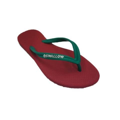 Sandal Swallow Premium SlimFeet Wanita RubyRed - Tali Hijau