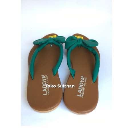 Sandal Teplek Flat Jepit Pita - HIJAU