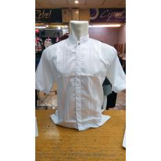 Santri - Baju Koko Putih / Kemeja Takwa Putih / Busana Muslim Pria Warna Putih - Lengan Pendek - Size M L XL