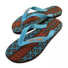 Satuan Sandal / Sendal Jepit Pria Swallow Motif Batik / Sendal Pantai - Biru - Size 11/42