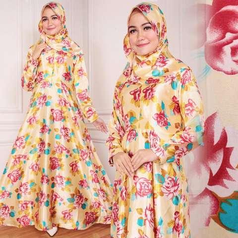 Fatimah Pashmina Zahra Semi Instan With Cadar - Hijau. Source · SB Collection 2in1 Maxi Longdress + Pashmina - Kuning