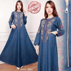 SB Collection Dress Maxi Yura Long Dress Jeans Gamis