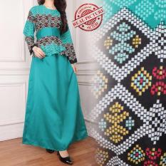SB Collection Gamis Longdress Jumbo Batik Asilla - Hijau