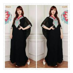 SB Collection Kaftan Lula Gamis Jumbo Maxi Dress Bordir-Hitam