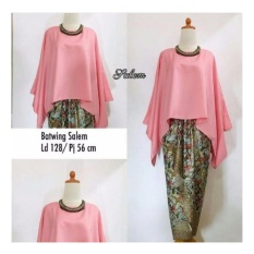 SB Collection Stelan Kebaya Batik Nicka Jumbo Blouse Kalong Dan Rok Lilit -Salem