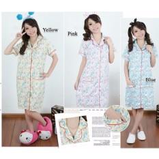 Sb Collecttion Baju Tidur Kitiro  Piyama Import Daster Dress - Kuning