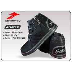 Sepatu Anak Perempuan Sevenray Giselle - Hitam/Abu