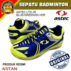 Sepatu Badminton Astec LTD JR-Blue-Green-Silver