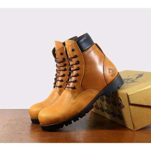 Sepatu Boots Kulit Pria Trendy & Exlusive Hight Quality - LABRADOR