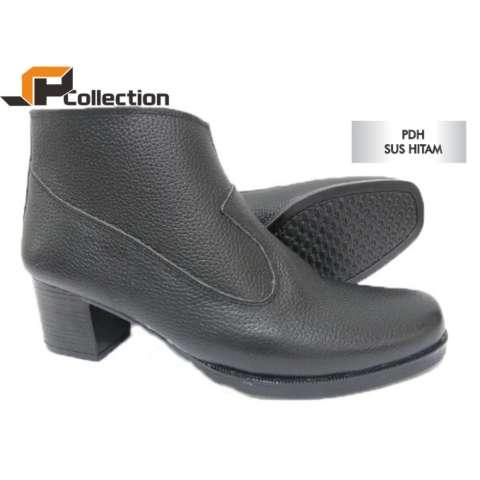 JAFERI Sepatu Boots PDH Sus Hitam Bahan Kulit Sapi Asli Cocok Untuk Ke  Acara Formal Maupun 3bd42567af