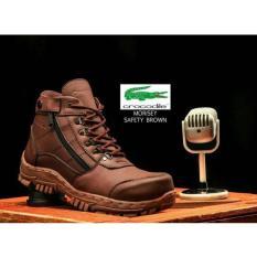 sepatu boots safety gunung hikking tracking crocodille morisey sepatu pria