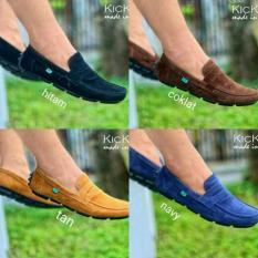 Sepatu Casual Kulit Kickers Pria Slop Slip On Murah Sneakers Cowok