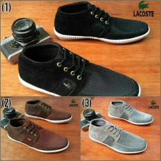 SEPATU CASUAL PRIA LACOSTE SMOUTH SNEAKERS GRADE ORIE 3 VARIAN BAGUS
