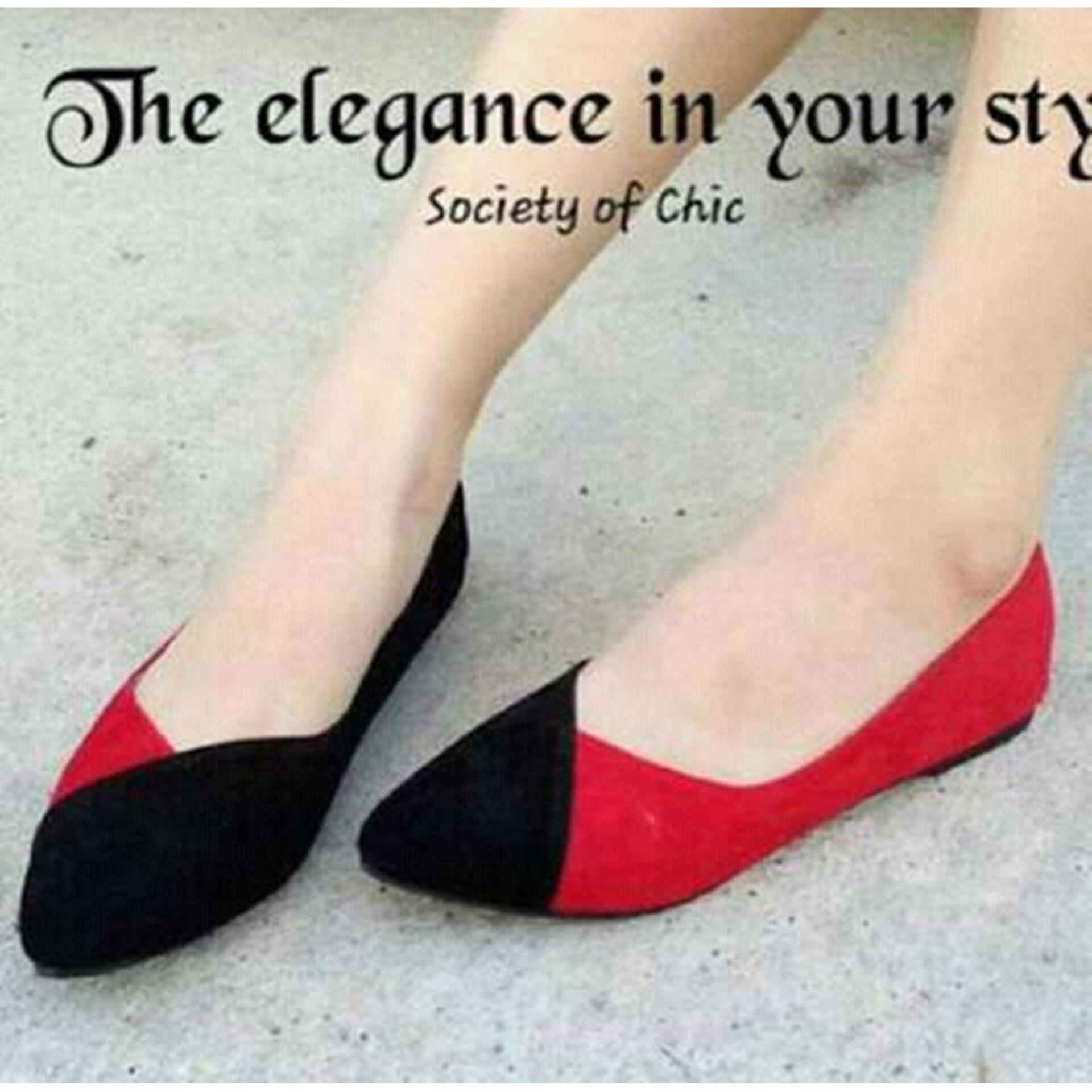 Sepatu Flat Shoes Monocrome .